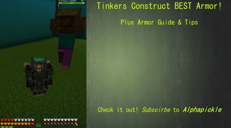 How to make Good Armor! Tinkers Construct,  Plus Armor Guide & Tips!