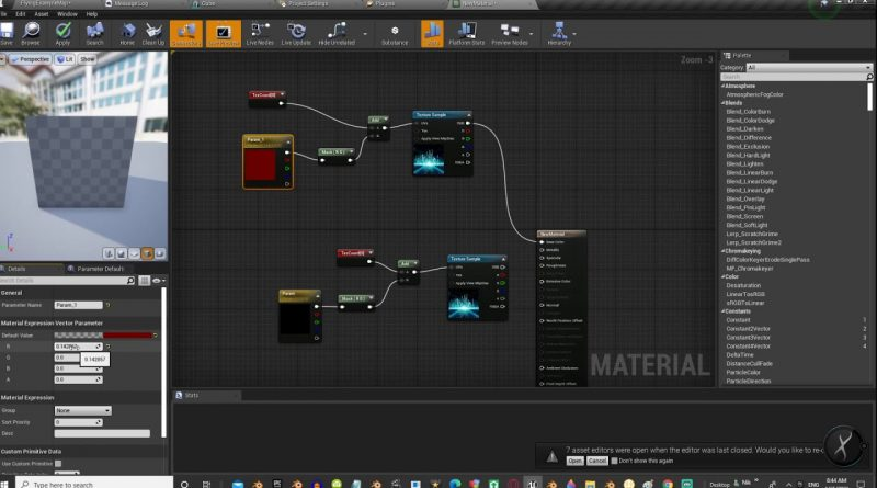 UE4 Tutorial - Move texture with material parameter / Unreal Engine 4