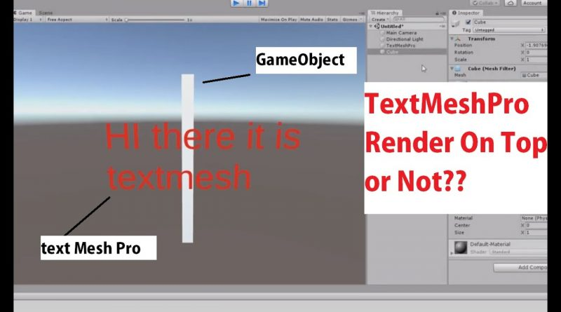 Unity Text Mesh Pro Always Render on Top