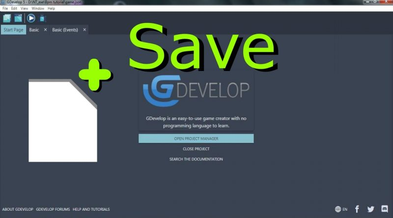 Clicker in Gdevelop 5 Save the progress