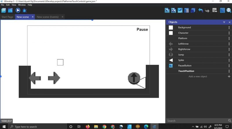 How To Make Multitouch Controls For Platform Games In Gdevelop 5
