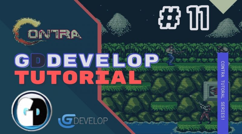 Gdevelop FREE VISUAL Game Engine: CONTRA Tutorial #11 - PICKING AND SHOOTING NEW WEAPONS