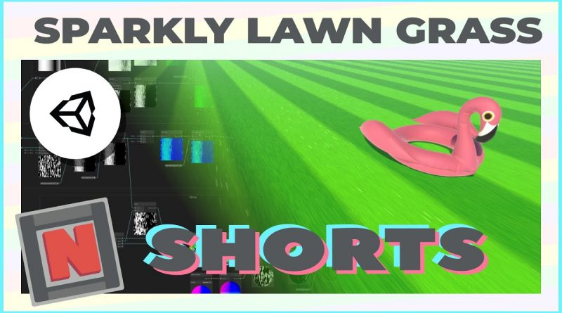 Sparkling Grass Lawn in Shader Graph! Unity URP Procedural Material #Shorts A | Game Dev Tutorial