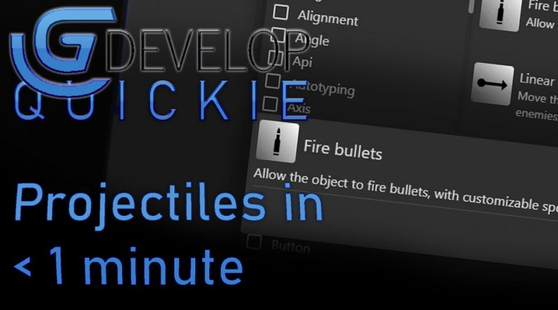 Projectiles in less than a minute in GDevelop