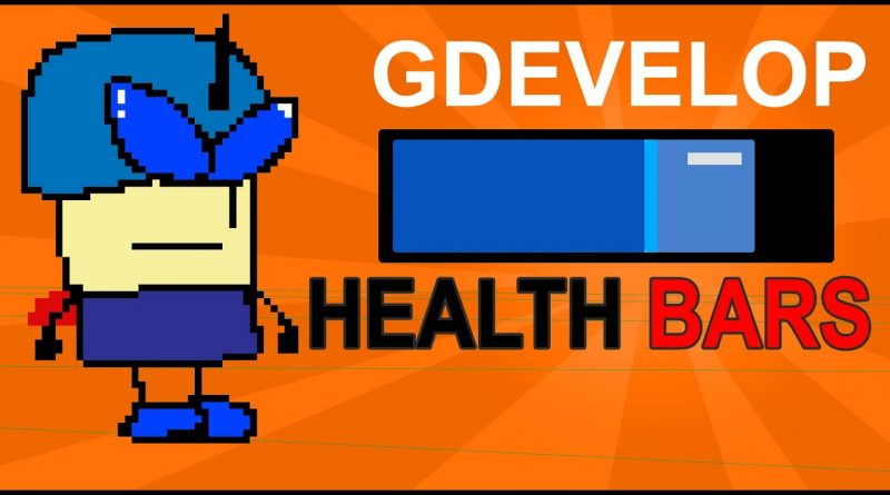 HOW TO MAKE AN ANIMATED HEALTH BAR - (GDEVELOP) Easy Gamemaker 2020