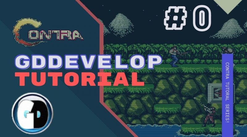 Gdevelop FREE VISUAL Game Engine: CONTRA Tutorial #0 - The gameplay
