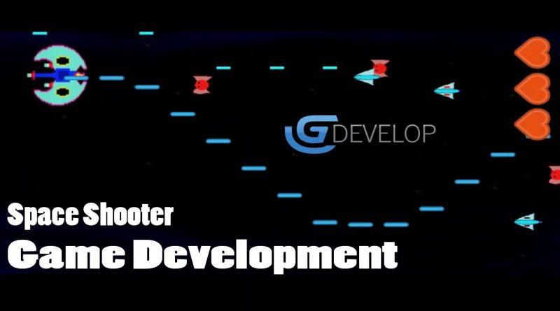 Game Development Space Shooter Enemy Bullet Firing GDevelop 5