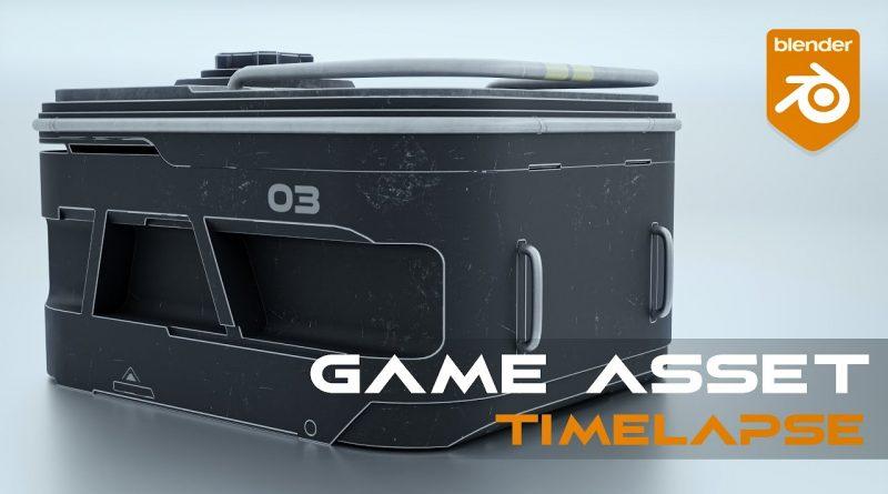 Blender 2.91 Game Asset Timelapse - SciFi Crate