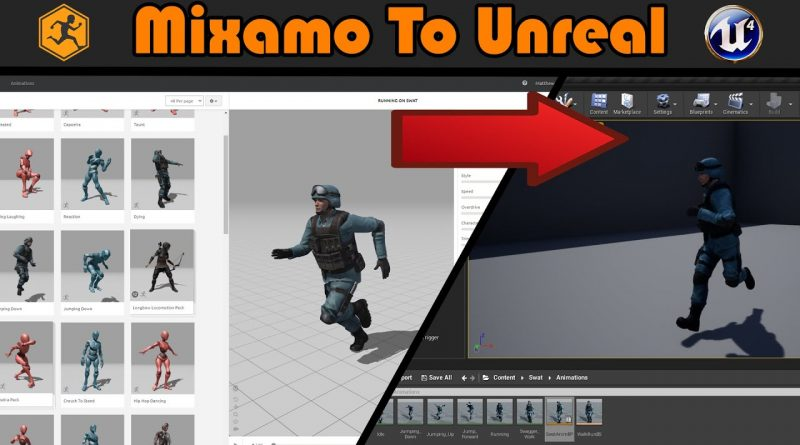 Mixamo To Unreal   Free Characters And Animations - Unreal Engine 4 Tutorial