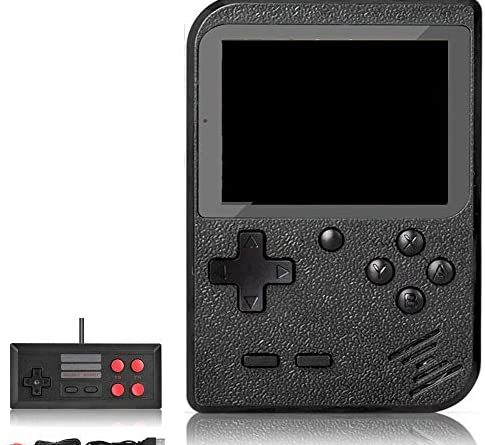 DigitCont Retro Game Console, Handheld Game Console Retro Mini Game Player with 500 Classical FC Games 2.8-Inch Color Screen Support for Connecting TV 1000mAh Rechargeable Battery Black