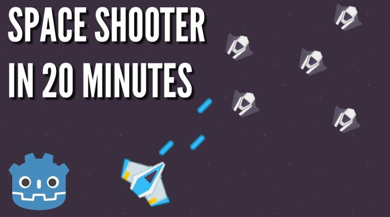 How To Make a Space Shooter in 20 Minutes (Godot Engine)