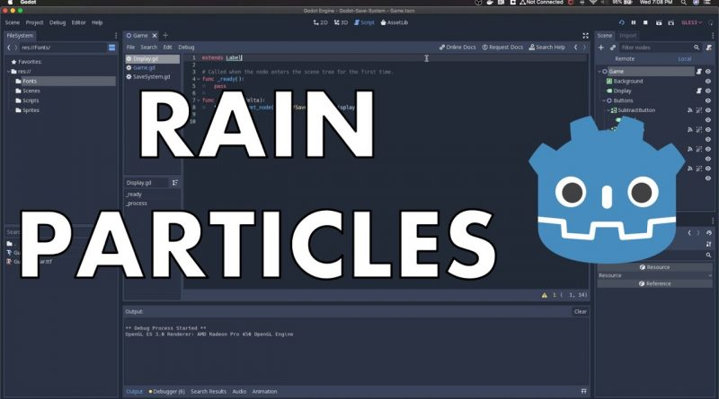 Simple Rain Particle System in Godot Engine