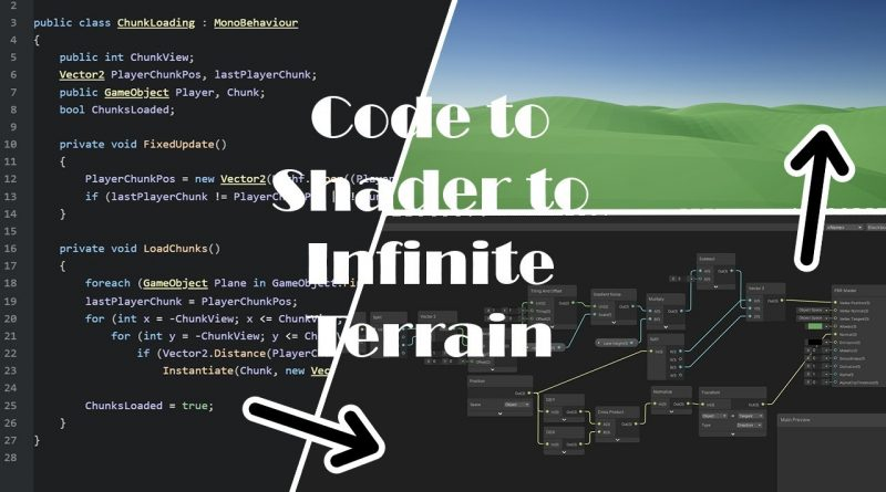 Simple Infinite lowoply Terrain in Unity Shader Graph + Chunk Loading