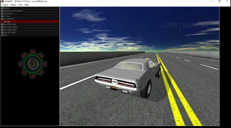 DODGE_CHALLENGER_383_MAGNUM 3D MODEL EXPORT FROM SKETCHUP TO GAME ENGINE BEGINNERS TUTORIAL.