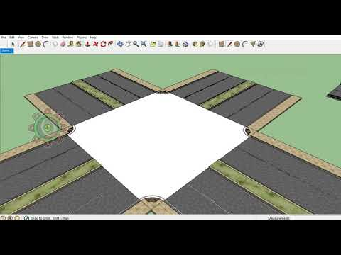 Create a 3d Highway kit for Game engine Sketchup Pro | 3d Modeling Tutorials for Beginners.