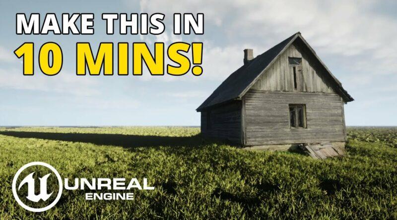 Unreal Engine 5 Beginner Tutorial | Realistic Grassy Meadow Environment