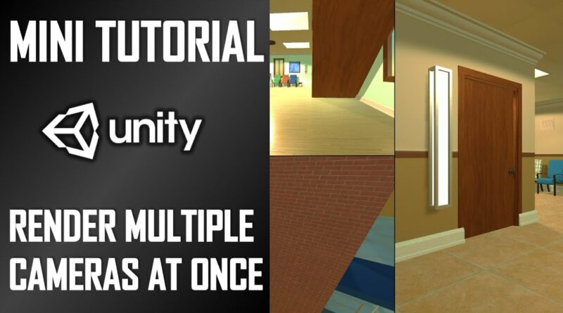HOW TO RENDER MULTIPLE CAMERAS ON SCREEN AT ONCE - MINI UNITY TUTORIAL